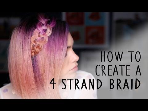 Quick + Easy 4 Strand Braid (Celtic Braid) Hair Tutorial