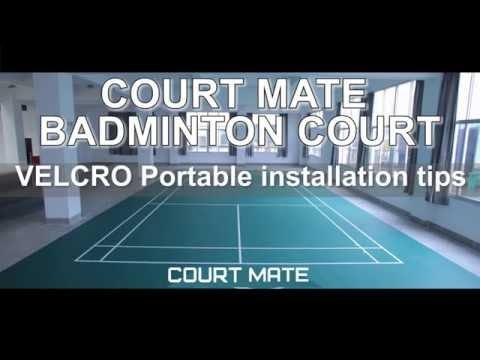 Velcro Badminton Court