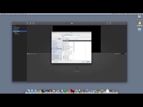 Import Video into iMovie