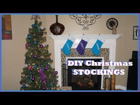 Christmas DIY Part 2| DIY Christmas Stockings - DIY w/Derri