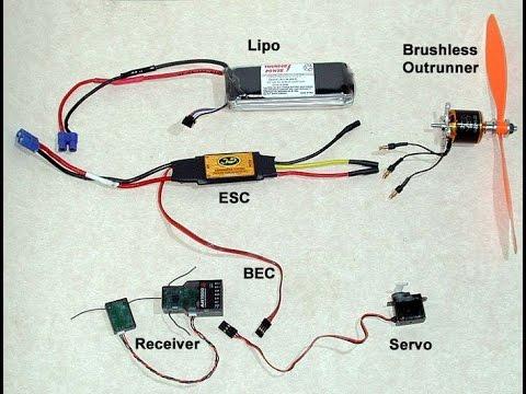RC plane build servo, motor and battery basics video 1