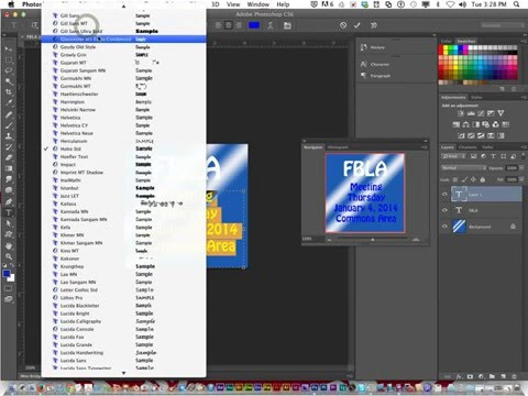 Photoshop Lesson 11: Type in a Bounding Box- Part 2