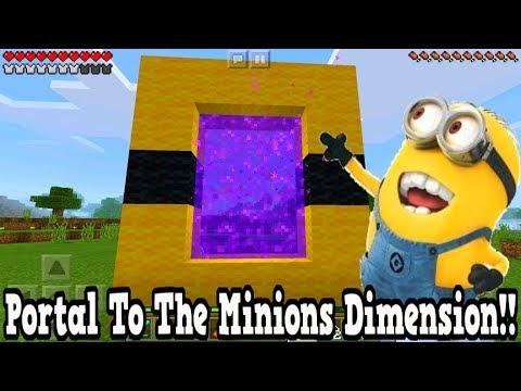 Minecraft Pe - Portal To The Minions Dimension - Mcpe Portal To The Minions!!!