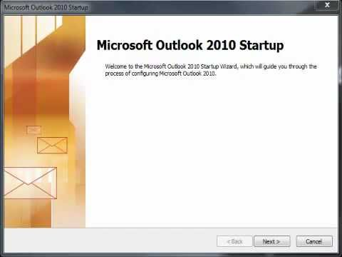 Setup a new install of Outlook 2010 to work with Gmail.