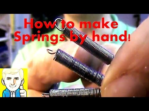 How to make Coil Springs from a Steel rope/cable wire by hand!