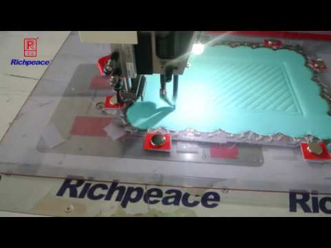 Richpeace automatic sewing machine for cup mat 2