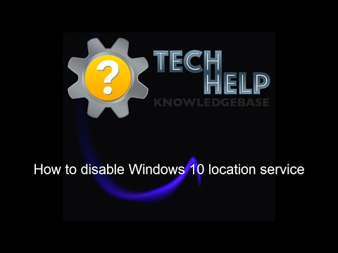 How to disable Windows 10 location service
