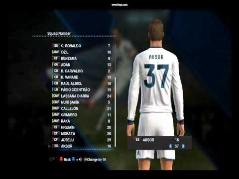 PES 2013 Created player in Become a Legend