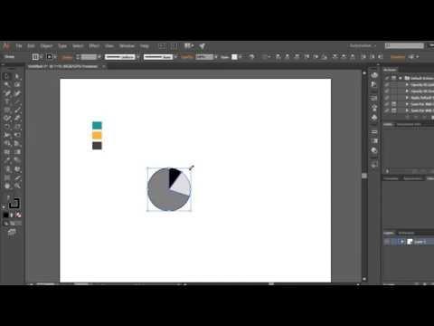 adobe illustrator tutorial for beginners: Resizing pie chart  تغيير حجم رسم بياني في الاليستريتور