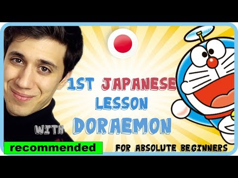 Learn basic Japanese with Anime Doraemon - For absolute beginners (Eng)