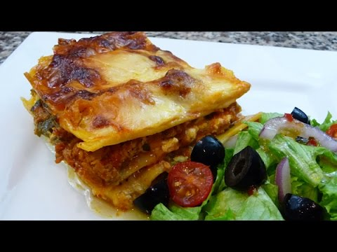 Easy - Three Cheese Lasagna recipe,