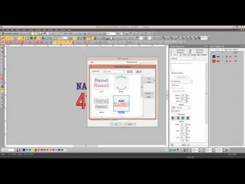 EmbroideryStudio e3 - Creating a team name template