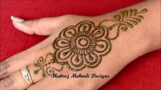 Simple Arabic Henna Mehndi Designs For hands|Latest Arabic Henna Mehndi Designs