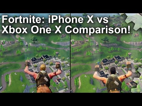 Fortnite: iPhone X vs Xbox One X Comparison  - Just How Close Are They?