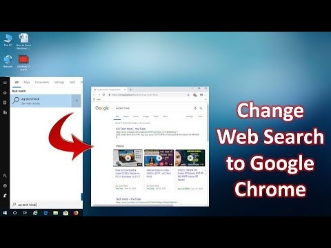 How to Change Default Web Search to Google Chrome in Windows 10