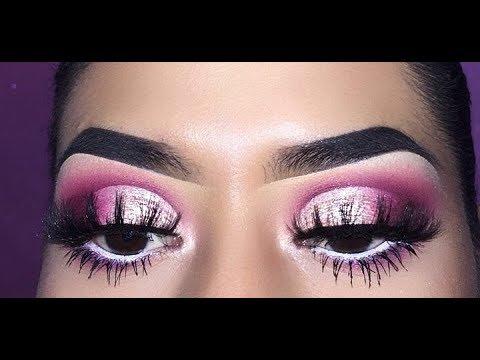 Hot Pink Half Cut Crease Eye Make Up Look | Nancy Aguilar