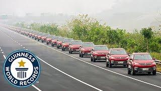 Largest autonomous car parade - Guinness World Records