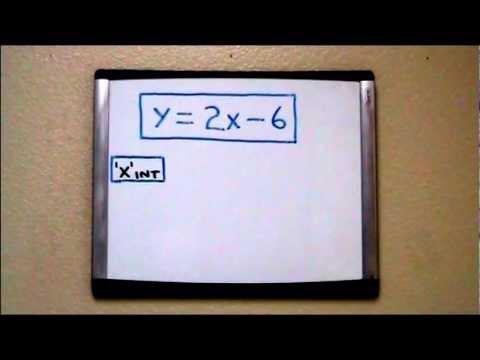 Finding the X Intercept