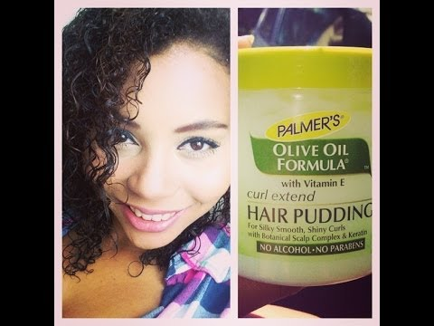 How to Stretch and Loosen Curls......Palmers Olive Oil Curl Extend Hair Pudding Review