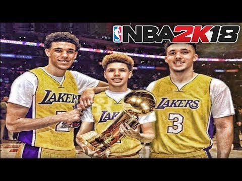 BALL BROTHERS NBA 2K18 MYCAREER - LAVAR BALL, LONZO BALL, LAMELO BALL, LIANGELO BALL