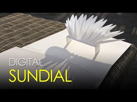 This ingenious sundial can display time digitally