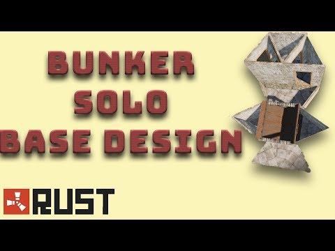 Bunker Solo Base Design I Rust Tutorial I  Build 3.2