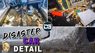 Deep Cleaning a SMOKER'S Dirty Car | DISASTER Car Detailing & Complete Vehicle Transformation!