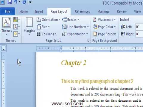 Indents And Tabs Ms Word  Video Tutorials in Hindi  - LSOIT.COM