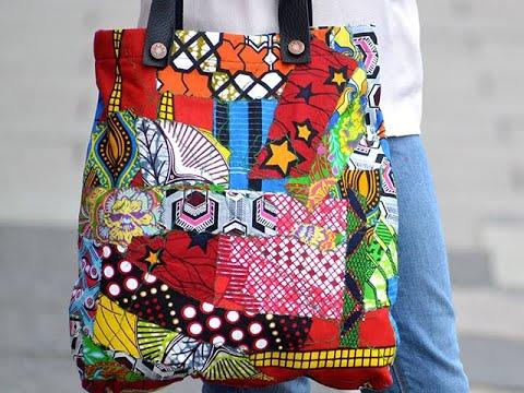 How To Sew Tote Bag Using Ankara Scraps - Beautiful Ankara Bag (Part 1)