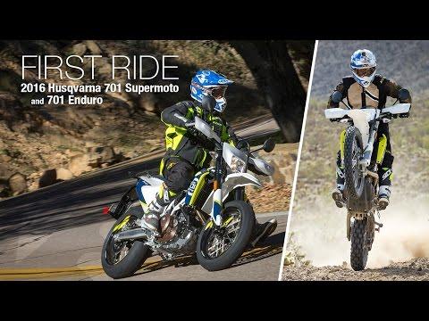 2016 Husqvarna 701 Supermoto & Enduro First Ride - MotoUSA