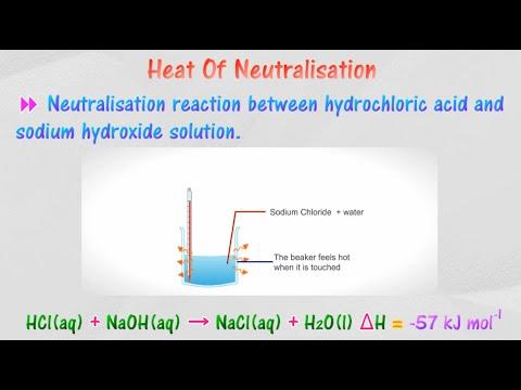 [4.4] Heat of neutralisation - Calculation