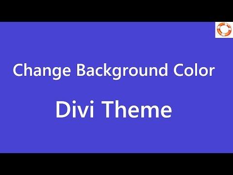 Divi Change Background Color in WordPress