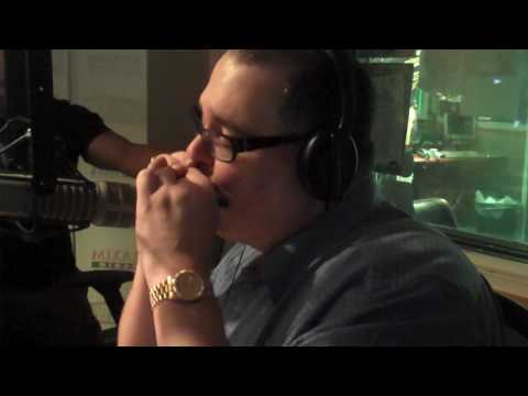 John Popper plays the harmonica on the Covino & RIch Show
