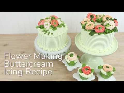 Buttercream Recipe for Flower Making - Global Sugar Art Cake Decorating