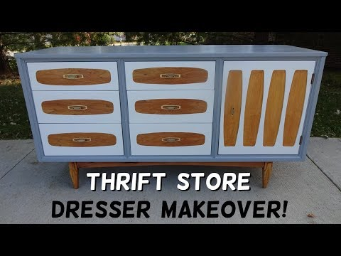 Trashy Thrift Store Dresser Makeover!