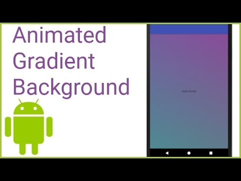 Animated Gradient Background like Instagram - Android Studio Tutorial