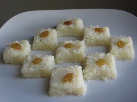 Coconut burfi recipe ( Indian dessert )