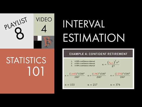 Statistics 101: Confidence Intervals, Estimating Sample Size Needed