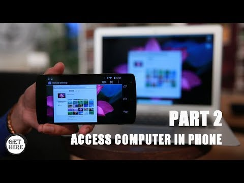 Remotely access computer in android phone || Without  internet || Video Part 2