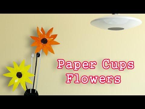 Paper Cups  Flowers || DIY Craft Ideas