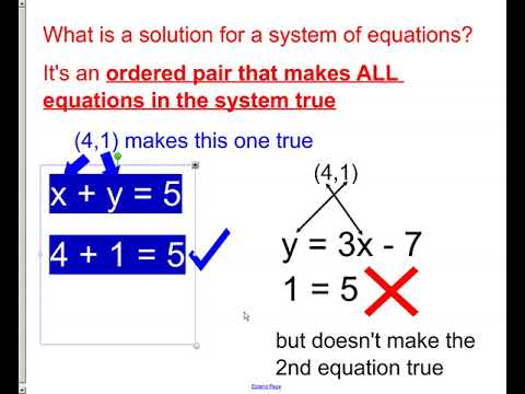 system of equations and solutions