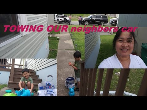 FILIPINA AMERICAN LIFE IN AMERICA TOWING neighbors CAR AND SPECIAL SHOUT OUT!
