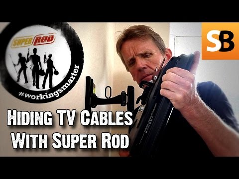 Hide cables for wall mounted televisions using Super Rod