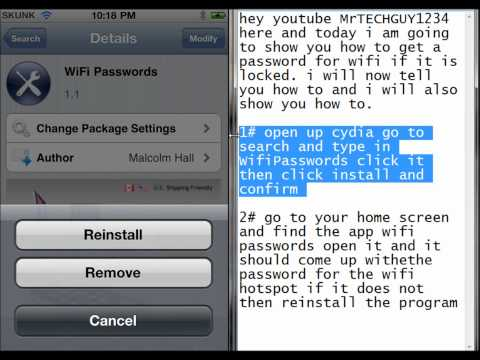 How to get passwords for wifi