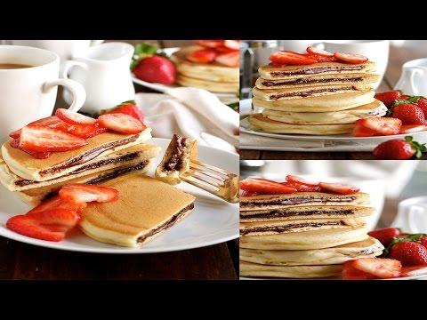 How to make nutella pancake | nutella pancake recipe | pancakes recipes