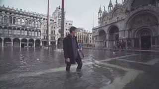 Sirens warn of a coming flood in Venice