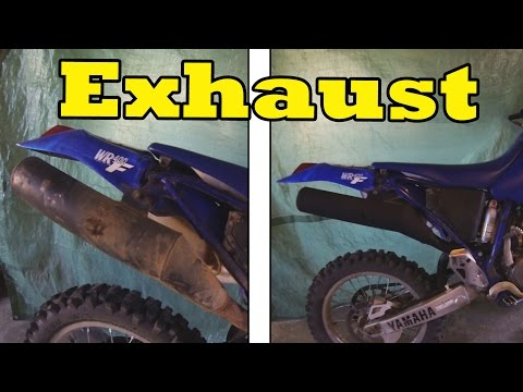 Cleaning & Painting Dirt Bike Exhaust
