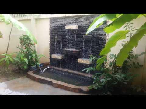 Garden waterfall | How to make garden waterfall | How to make garden
