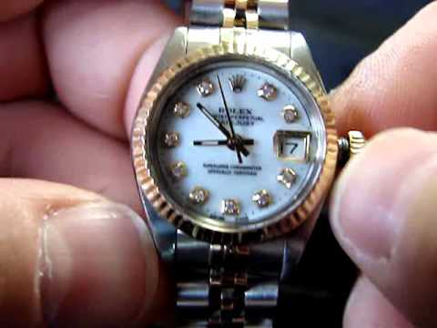 How to Wind and Set a Ladies Rolex Datejust Quickset