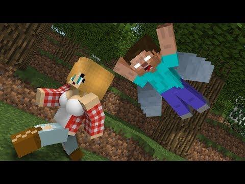 Monster School: Wingsuit Flying - Minecraft Animation